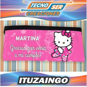 Cartucheras Kitty Impresa 2 Caras Personalizadas Souvenir