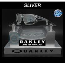 Gafas Oakley Sliver 9262 23 Matte Clear Micas Chrome Iridium