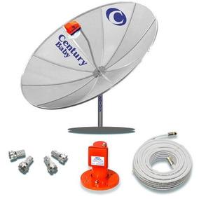 Kit Antena Parabólica Century Md170 + Cabo + Lnbf Multiponto