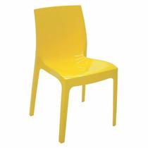 02 Cadeiras Alice Amarela Alto Brilho 92037/000 Tramontina