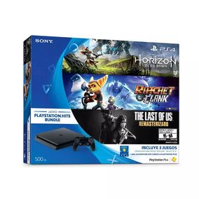 Ps4 Slim 500 Gb + 3 Juegos + 1 Joystick+ Garantia