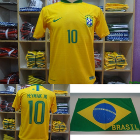 Camisa Do Brasil Copa Do Mundo 2018 + Brinde Mini Toalha