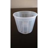 Vaso Pote Plástico Nº15 Transparente Para Orquídeas