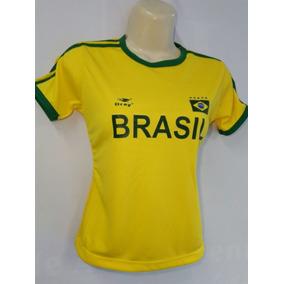 Camisetas Femininas Seleção Brasileira Kit Com 3 Peças Copa