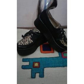 Zapatos De Gamuza Con Leopardo Plataforma Marca Nazaría