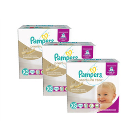 Kit Com 3 Fraldas Pampers Premium Care