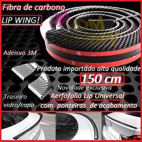 Aerofolio/spoiler Lip Wing Fibra Carbono Traseiro Capo/vidro