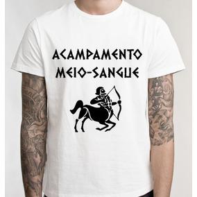 Camiseta Acampamento Meio Sangue Camisa Blusa Promoção
