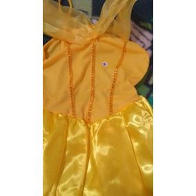 Vestido Princesa Bela Infantil P M G