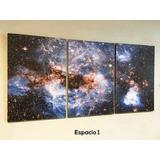 Cuadros Tríptico Imágenes Del Espacio Xl (total 90x44 Cm)