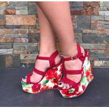 Sandalias Plataforma De Moda Mujer Calzado Colombiano