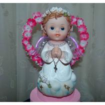 Angel Con Luz 16,5 Cm Bautismo Comunion Souvenir
