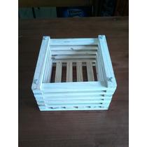 Cachepot De Madeira E Porta Vaso 20cm X 20cm - Kit 10 Peças