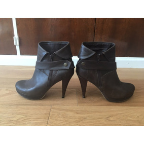 Divinas Botas Mary & Joe Chocolate T. 40 C/ Detalle