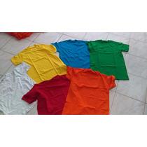 Franelas Unicolor Publicitarias Varios Colores 100% Algodón