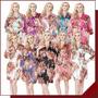 Kimono Rosas Robe Japones Cetim Nouvelle Passion C444