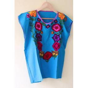 Lote 12 Blusas Artesanales Mexicanas Arreglo Flores En Linea