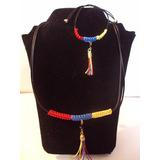 Collar Tricolor Venezuela Bola De Fuego Fantasmas