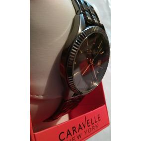 Reloj Caravelle By Bulova De Hombre Gris Elegante Exclusivo