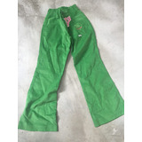 Pantalón Corderoy Valentina Talle 8 Verde Loro Divino Miralo