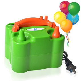 Inflador Verde De Globos Electrico Doble Salida