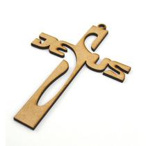Cruz De Mdf 15cm Jesus Recuerdo Bautizo Primera Comunion