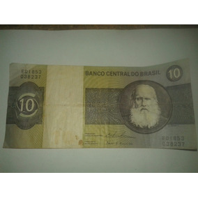 Billete De Brasil. 10 Dez Cruzeiros 1970-1980 Cod2