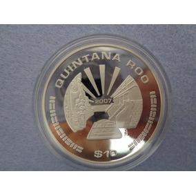 Moneda $10 Quintana Roo Serie Estados 2a Fase Plata .999