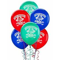 Pack X5 Globos Látex Pirates Party - Cotillón Cumpleaños