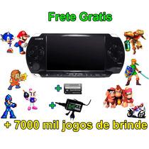 Playstation Portátil Psp +7 Mil Jogos De Brinde Frete Gratis