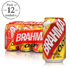 Cerveja Brahma Zero Álcool 12 Latas 350ml Fardo Atacado