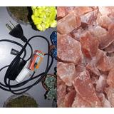 7 Kits Cables Negros Foco15w Y 7 Kg Piedras De Sal Ch/median