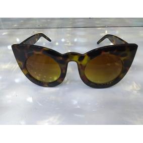 93101430d0a55 Oculos Gatinho Preto Com Dourado Fendi - Óculos De Sol no Mercado ...