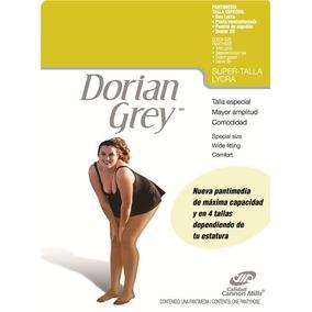 6 Pantimedias Doryan Gray Extragrandes Xx/xxl