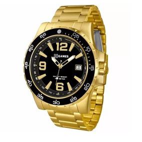 Relógio X-games Masculino Dourado Banhado Aprova D