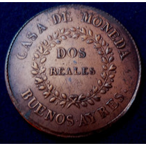 Argentina Buenos Aires 2 Reales1840 A6-r2 Xf + + Au
