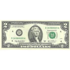 Billete Estados Unidos 2 Dolares Año 2003 2009 Sin Circular