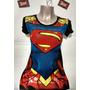 Polo Modelo Superman Girl Logo En Alto Relieve ( Viscosa Con