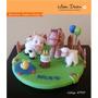 Adorno Torta - Cumple En La Granja / Animales