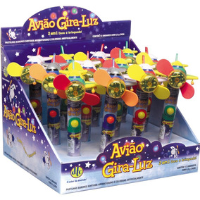 Mini Brinquedo Ventilador Avião Gira Luz Ref.2723 C/12 - Dtc