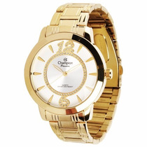 Relógio Champion Banhado A Ouro 18k Ch24259h - Original + Nf