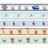 Faixa Border Decorativa Infantil Urso Bebê Marinheiro