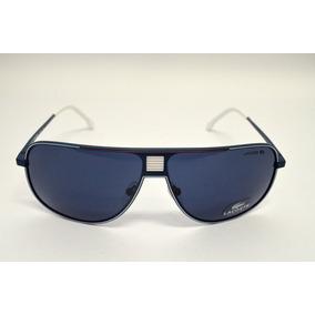 Óculos De Sol Lacoste L148s Metal Azul Com Branco Médio bbdc7c38a6