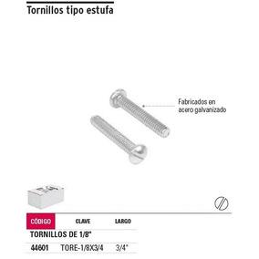 Tornillo 1/8 X 3/4 Galvanizado Paquete De 10 Piezas