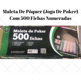 Maleta Kit Completo Poker 500 Fichas Com Numeração Barato
