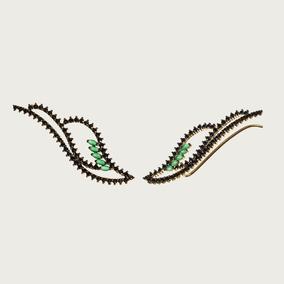 Brinco Em Ouro 18k Com Espinélios E Jades - Linha Fatale
