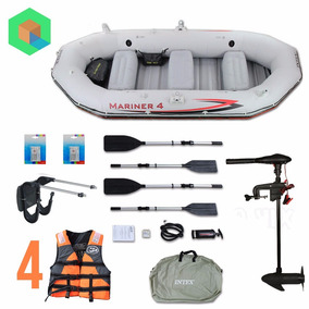 Bote Inflable Mariner 4 + Motor + Chalecos + Remos + Parches