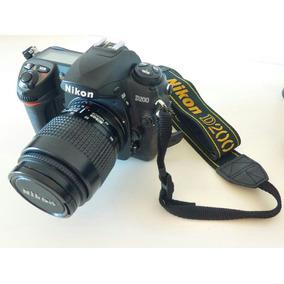Nikon D200 Com Duas Lentes, Duas Baterias E Cartão De 4gb