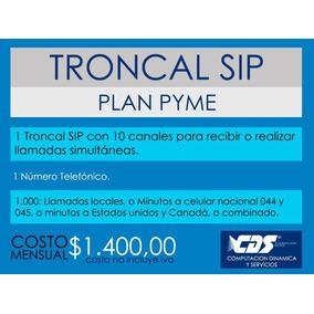 Troncal Sip 1 Número Telefónico, 10-600 Canales,1000 Minutos