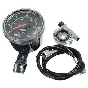 Sodial (r) Odómetro Mecánico Velocímetro Rpm Reajustable Pa